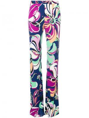 Расклешенные брюки Emilio Pucci. Цвет: многоцветный