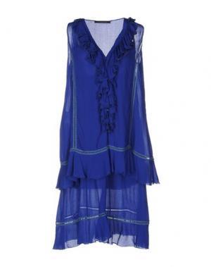 Платье до колена TENAX. Цвет: синий