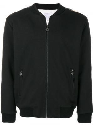 Куртка-бомбер Galo Les Benjamins. Цвет: чёрный