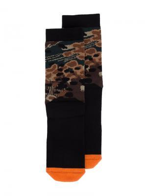Camouflage socks 11 By Boris Bidjan Saberi. Цвет: чёрный