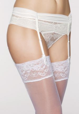 - Crystal Пояс для чулок Белая лилия Maison Lejaby