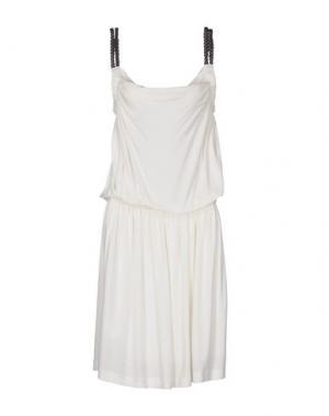 Платье длиной 3/4 ROBERTA SCARPA. Цвет: слоновая кость