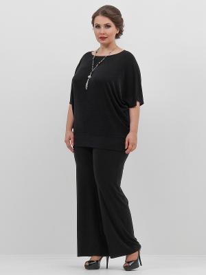 Блузка Lina. Цвет: черный, антрацитовый