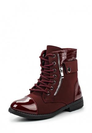 Ботинки TT. Цвет: бордовый