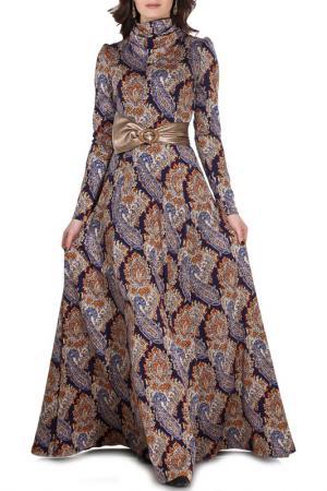 Платье Olivegrey. Цвет: сине-фольклорный