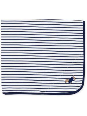 Одеяло Стильная такса Little Me. Цвет: синий, белый