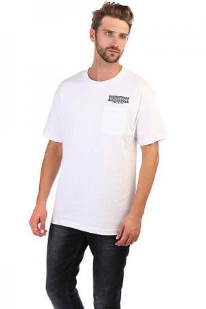 Футболка  Boarder Pocket White Independent. Цвет: белый