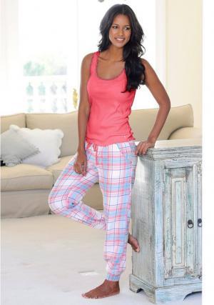 Пижамные брюки Victoria Otto. Цвет: бежевый