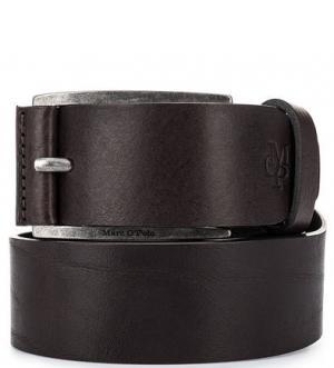 Кожаный ремень коричневого цвета Marc O'Polo. Цвет: коричневый