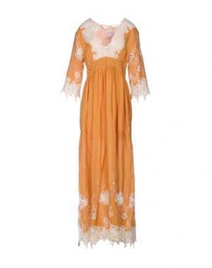 Длинное платье NOLITA. Цвет: охра