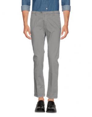 Повседневные брюки ONE SEVEN TWO. Цвет: серый