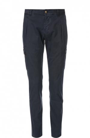 Брюки с накладными карманами Berwich. Цвет: темно-синий