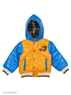 Куртка плащёвая на синтепоне Kidly. Цвет: голубой, желтый