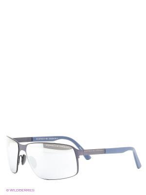Солнцезащитные очки Porsche Design. Цвет: темно-синий