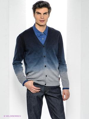 Кардиган Bogner Jeans. Цвет: темно-синий, серый, голубой