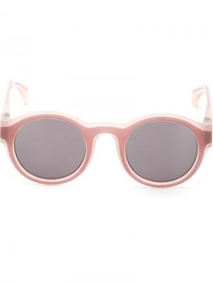 Солнцезащитные очки в круглой оправе Mykita. Цвет: розовый и фиолетовый