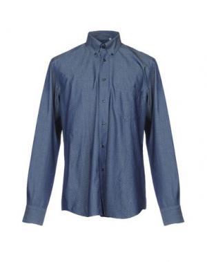 Джинсовая рубашка ZANETTI. Цвет: синий