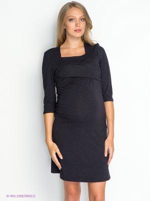 Платье для беременных и кормящих ФЭСТ 65509В/антрацитовый