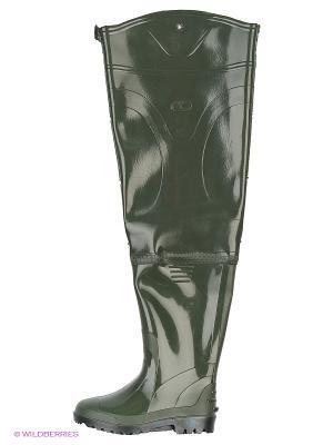 Резиновые сапоги Дюна. Цвет: оливковый