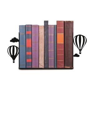 Декоративная подставка-ограничитель для книг Воздушные шары Magic Home. Цвет: черный