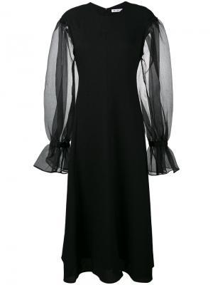 Платье Harriet с прозрачными рукавами Rejina Pyo. Цвет: чёрный