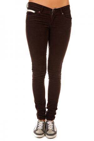Штаны узкие женские  Harp Chocolate Element. Цвет: коричневый