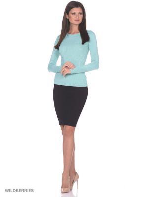 Женский вязаный джемпер с длинными рукавами SMART&FANCY. Цвет: бирюзовый