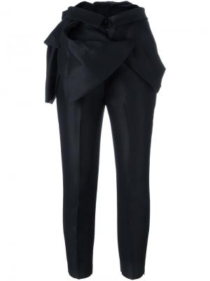 Строгие брюки с оборками Dsquared2. Цвет: чёрный