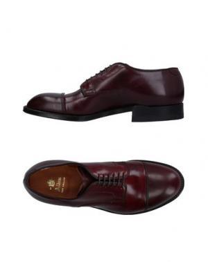 Обувь на шнурках ALDEN. Цвет: баклажанный