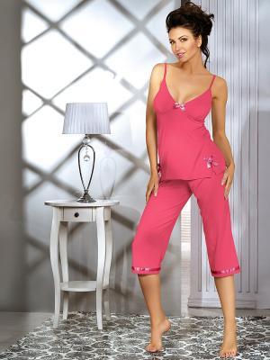Пижама Babell. Цвет: малиновый