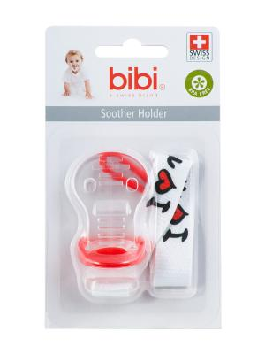 Цепочка для пустышек Mama/Papa, в ассортименте Bibi.. Цвет: белый, красный