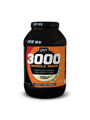 Гейнер QNT Muscle Mass 3000 (ваниль),1,3 кг. Цвет: черный