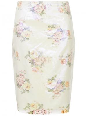Прямая двухслойная юбка Zambesi. Цвет: белый