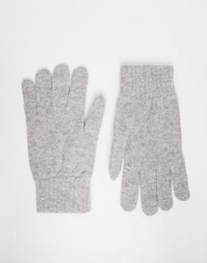Glen Lossie Перчатки из овечьей шерсти. Цвет: серый