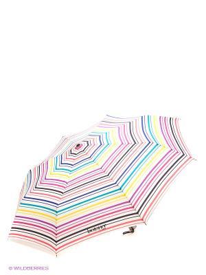 Зонт Isotoner. Цвет: белый, зеленый, розовый, синий