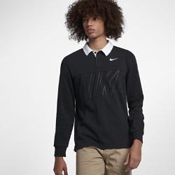 Мужская рубашка-поло с длинным рукавом для скейтбординга  SB Dri-FIT Nike. Цвет: черный