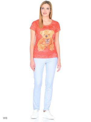 Футболка Taya jeans. Цвет: оранжевый