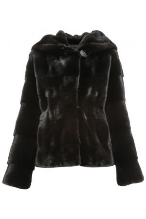 Норковая шуба 154837 Mousios. Цвет: черный