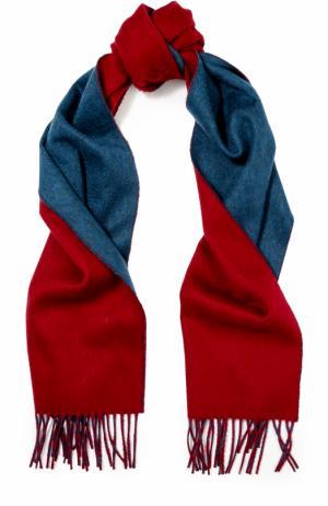 Кашемировый шарф с бахромой Johnstons Of Elgin. Цвет: бордовый