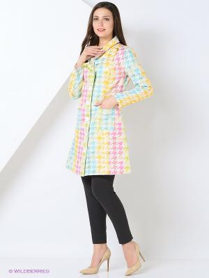 Пальто BYGAKOFF. Цвет: белый, салатовый, голубой, розовый