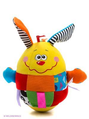 Развивающая игрушка Неваляшка Жирафики. Цвет: желтый, зеленый, коралловый