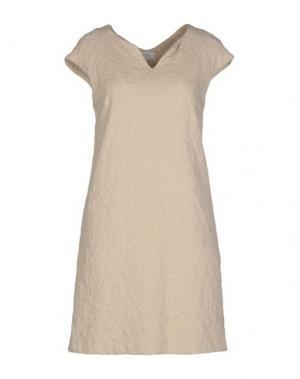 Короткое платье INTROPIA. Цвет: бежевый