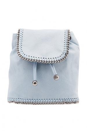 Голубой рюкзак из эко-кожи с цепочками Stella McCartney. Цвет: голубой