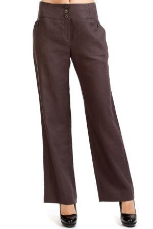 Брюки Isaco & Kawa. Цвет: коричневый