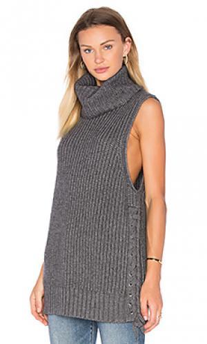 Свитер со шнуровкой Autumn Cashmere. Цвет: серый