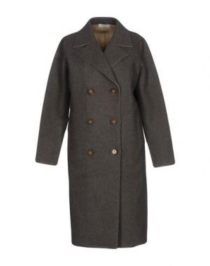 Пальто BRUNO MANETTI. Цвет: серый