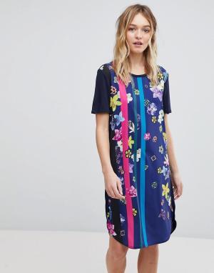 PS Paul Smith Платье-футболка с принтом by. Цвет: черный