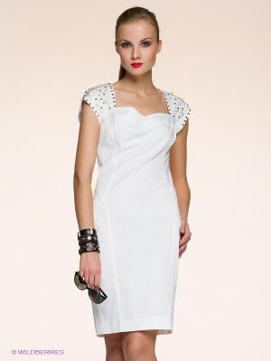 Платье Anna Rachele Jeans. Цвет: белый, золотистый