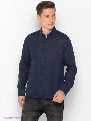 Рубашка MONDIGO. Цвет: лазурный