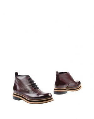 Полусапоги и высокие ботинки ZINDA. Цвет: баклажанный